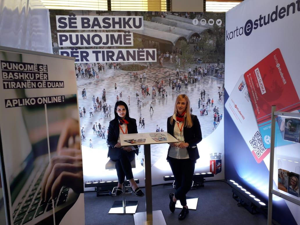 """30 Prill – 2 Maj 2019: Stenda dhe materiale promocionale për projektin """"Panairi i Punës"""""""
